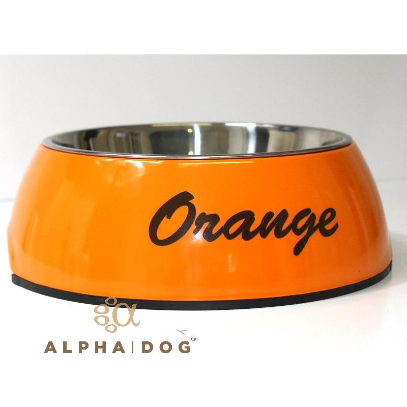 hundenapf mit wunschtext bedruckt orange von hunter. Black Bedroom Furniture Sets. Home Design Ideas
