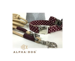 Hundehalsband -  rock the dots - berry