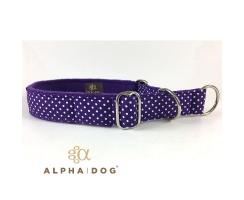 Zugstopp-Halsband Lots of Dots violett