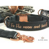 Halsband  to the moon and back  2,5 cm breit / 56-60 cm lang hellblau